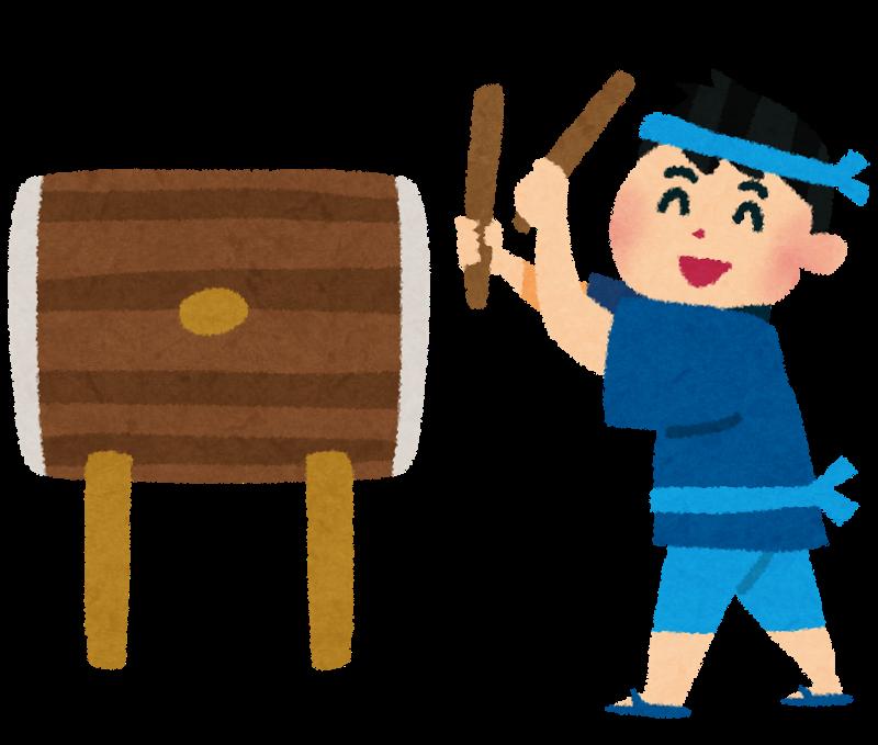 太鼓を叩く少年