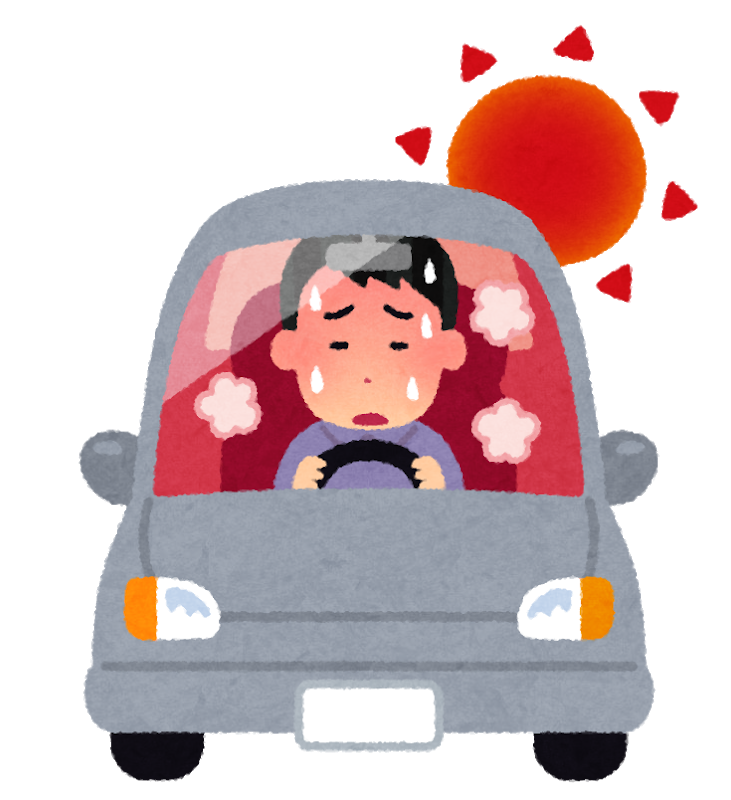 車で灼熱地獄の男性