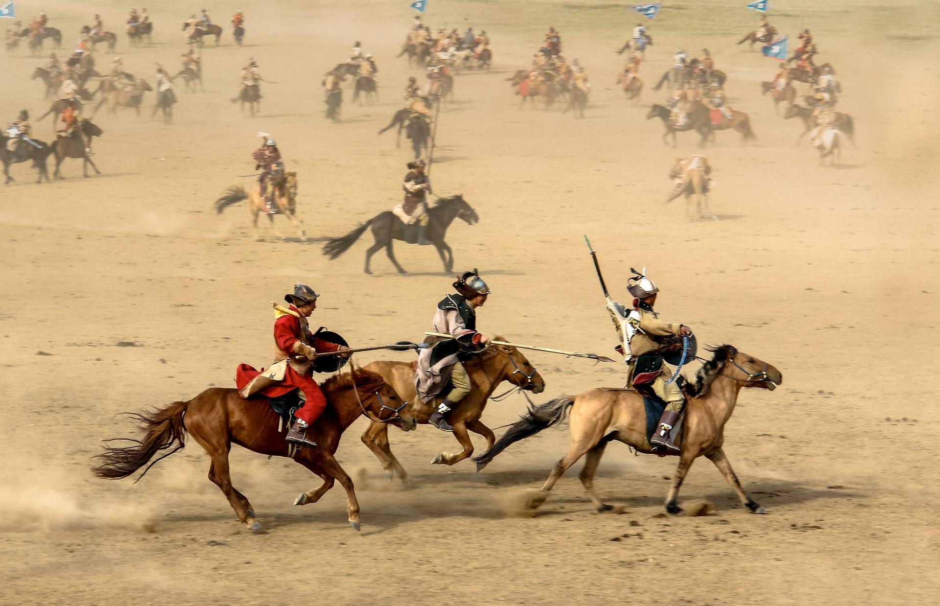 モンゴル騎馬