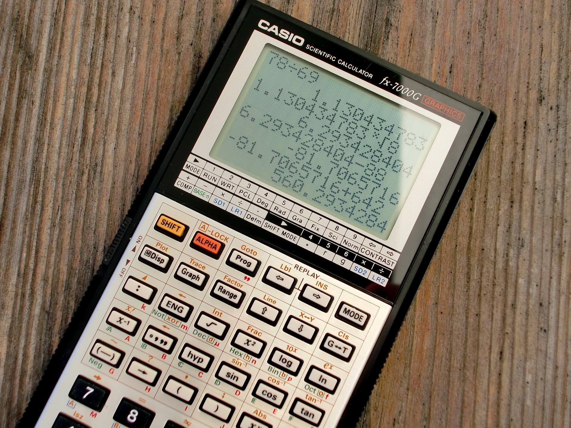 カシオの古い電卓