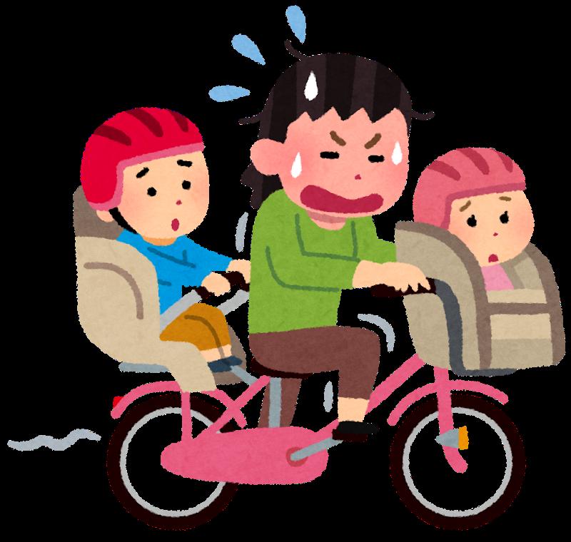 自転車3人乗り