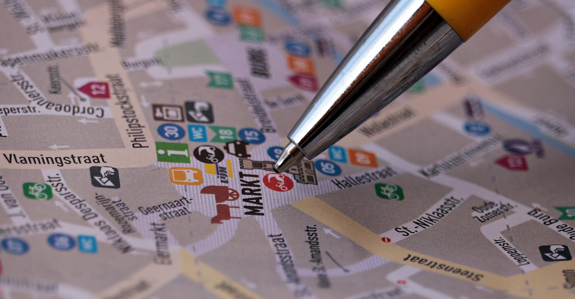 地図に書き込む